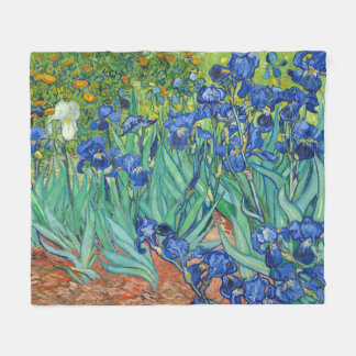 Irises by Van Gogh Fleece Blanket