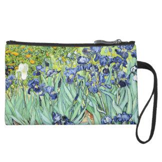 Irises by Van Gogh Suede Wristlet