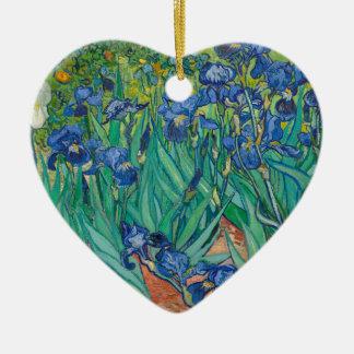 Irises by Vincent van Gogh Ceramic Ornament