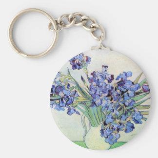 Irises by Vincent van Gogh Keychain
