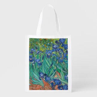 Irises by Vincent van Gogh Market Totes