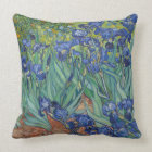 Irises by Vincent Van Gogh Throw Pillow
