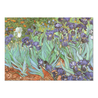 Irises by Vincent van Gogh, Vintage Flowers Art Card