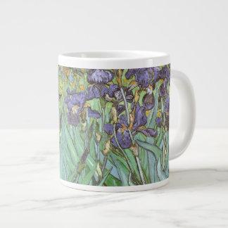 Irises by Vincent van Gogh, Vintage Impressionism Jumbo Mug