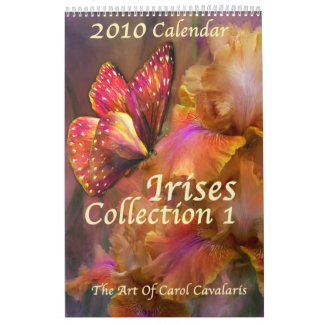 Irises-Collection 1 Calendar for 2010
