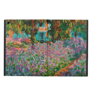 Irises In Monets Garden At Giverny by Claude Mone Cover For iPad Air