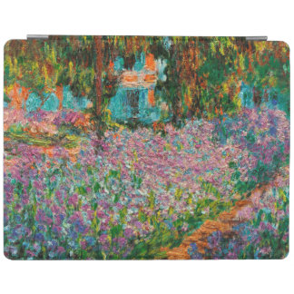 Irises In Monets Garden At Giverny by Claude Mone iPad Cover