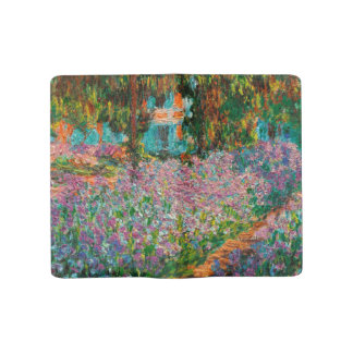 Irises In Monets Garden At Giverny by Claude Mone Large Moleskine Notebook
