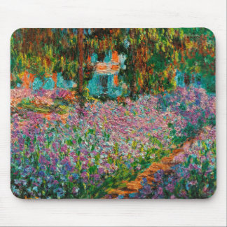 Irises In Monets Garden At Giverny by Claude Mone Mouse Pad