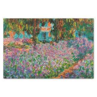 Irises In Monets Garden At Giverny by Claude Mone Tissue Paper