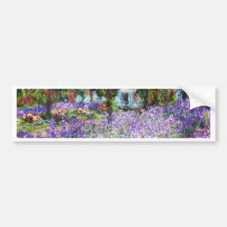 Irises in Monet's Garden Bumper Sticker