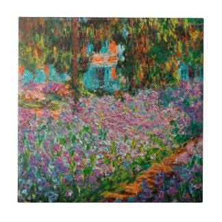 Irises In Monets Garden Ceramic Tiles