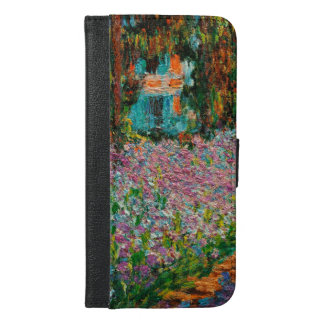 Irises In Monets Garden Giverny iPhone 6/6s Plus Wallet Case