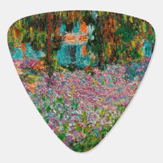 Irises In Monets Garden Guitar Pick