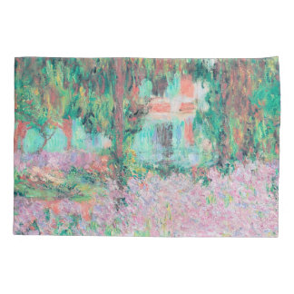 Irises in Monet's Garden Pillowcase