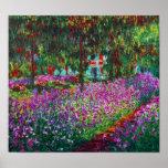 Irises in Monet's Garden Print