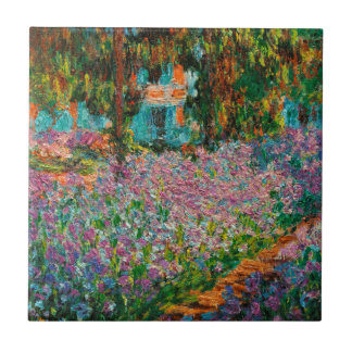 Irises In Monets Garden Tile