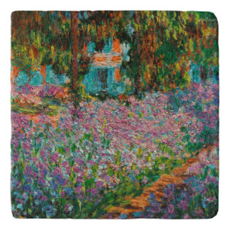 Irises In Monets Garden Trivet