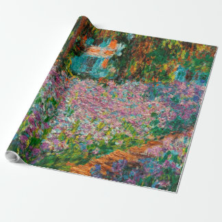 Irises In Monets Garden Wrapping Paper