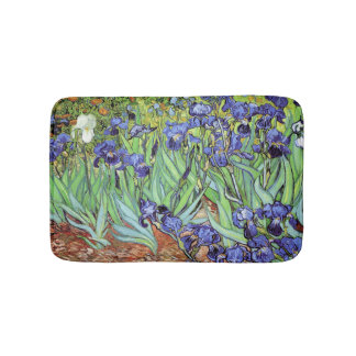 Irises in the Garden by Vincent van Gogh Bath Mat