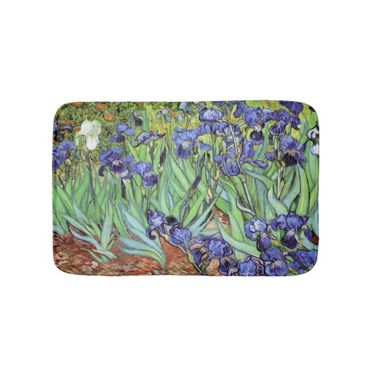 Irises in the Garden by Vincent van Gogh Bath Mat