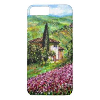 IRISES IN TUSCANY,Purple Flower Fields Landscape iPhone 8 Plus/7 Plus Case