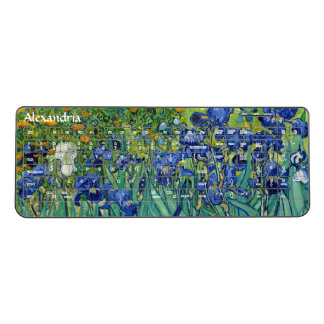 Irises Vincent Van Gogh Blue Flowers Nature Art Wireless Keyboard