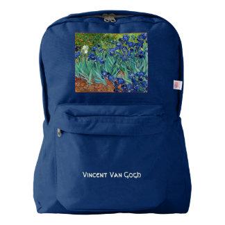 Irises Vincent van Gogh Flowers Fine Art Painting Backpack