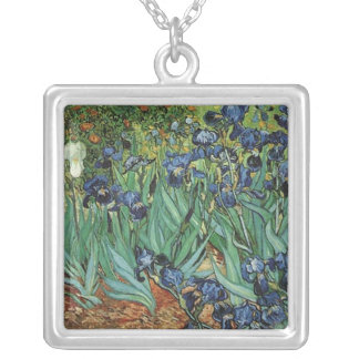 Irises, Vincent van Gogh Silver Plated Necklace