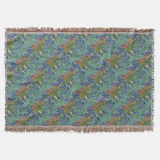 Irises - Vincent Willem van Gogh Throw Blanket