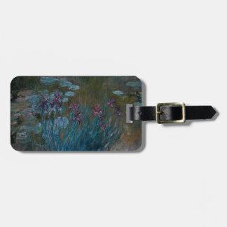 Irises & Water Lilies Bag Tag