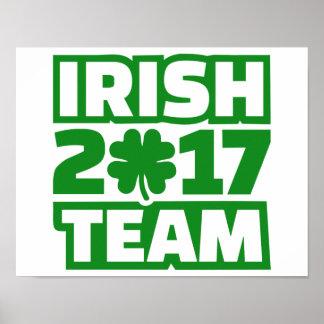 Irish 2017 team poster