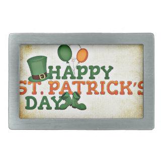 Irish #3 rectangular belt buckles