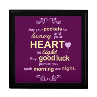 Irish Abundance Happiness and Good Luck Blessing Gift Box