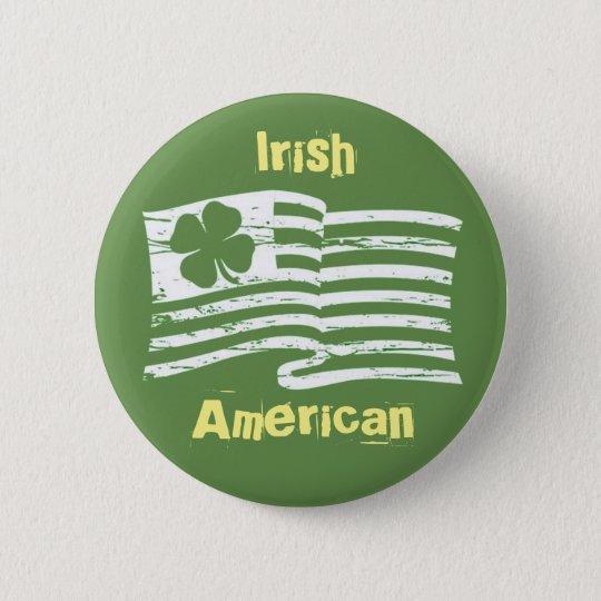 Irish American 2 Inch Round Button