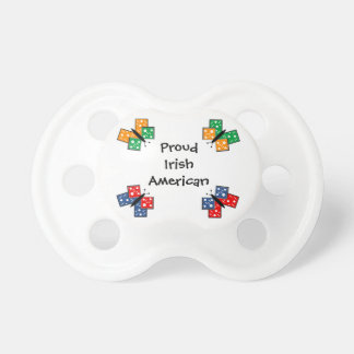 Irish American Butterflies Baby Pacifier