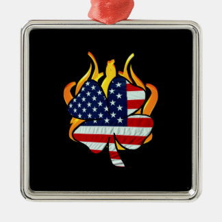 Irish American Firefighters Metal Ornament