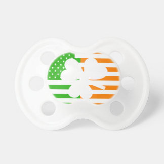 Irish American Flag And Shamrock Pacifiers