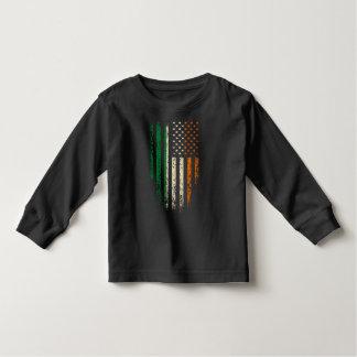 Irish American Flag Grunge Toddler T-shirt