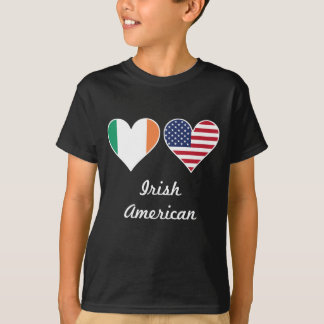 Irish American Flag Hearts T-Shirt