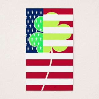 Irish American Flag Shamrock Clover St. Patrick Business Card