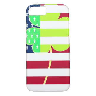Irish American Flag Shamrock Clover St. Patrick iPhone 8/7 Case
