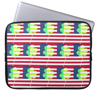Irish American Flag Shamrock Clover St. Patrick Laptop Computer Sleeves