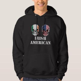 Irish American Flag Skulls Hoodie