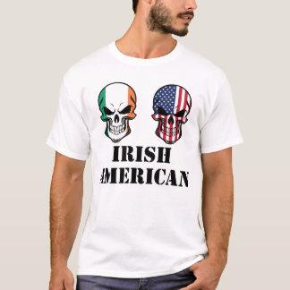 Irish American Flag Skulls T-Shirt