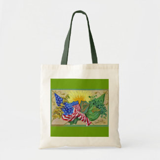 irish american flags tote bag