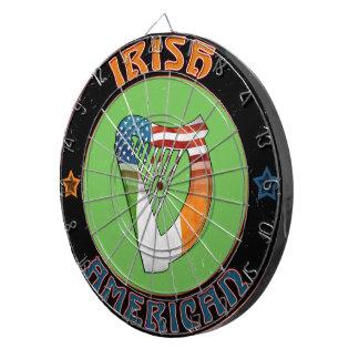 Irish American Harp Dart Board