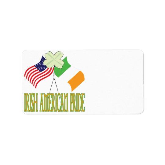 Irish American Pride Label