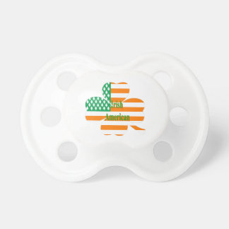 Irish American shamrock flag Pacifier