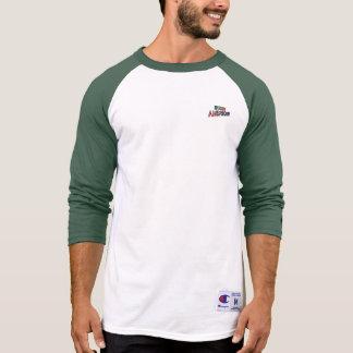 Irish-American Text for Men's-T-Shirt-White-Green T-Shirt